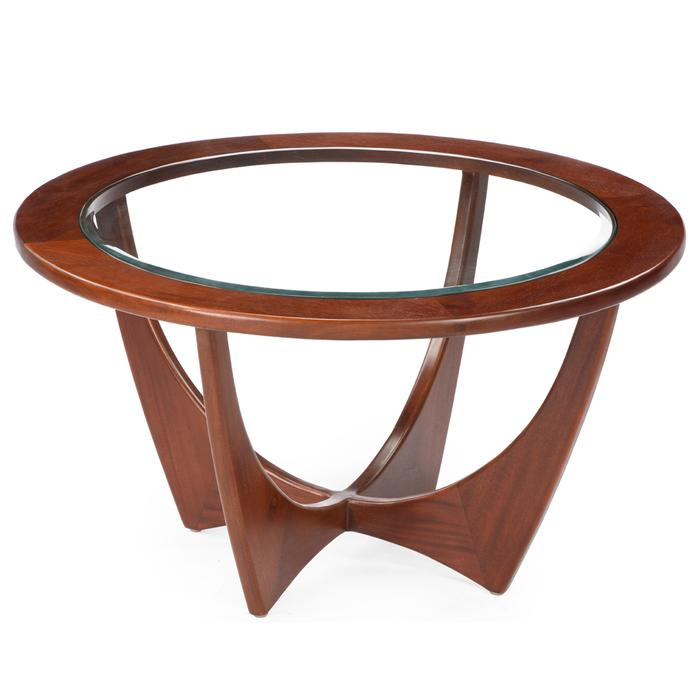 Coffee Tables Living Indoor Abaca Bridge Table With Curved Legs And Clear Gl Top Mahogany Wood Natural