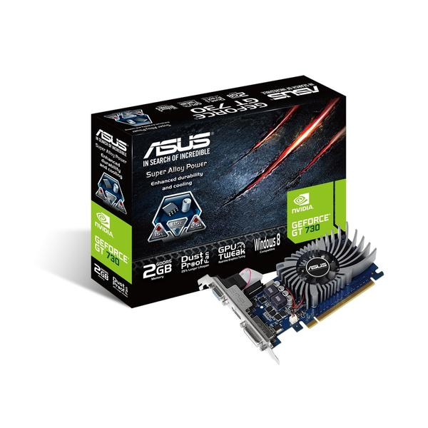 Nvidia GeForce Graphic Cards PC Components Asus ASUS GeForceR GT730 2GB DDR5 PCI E Graphics Card