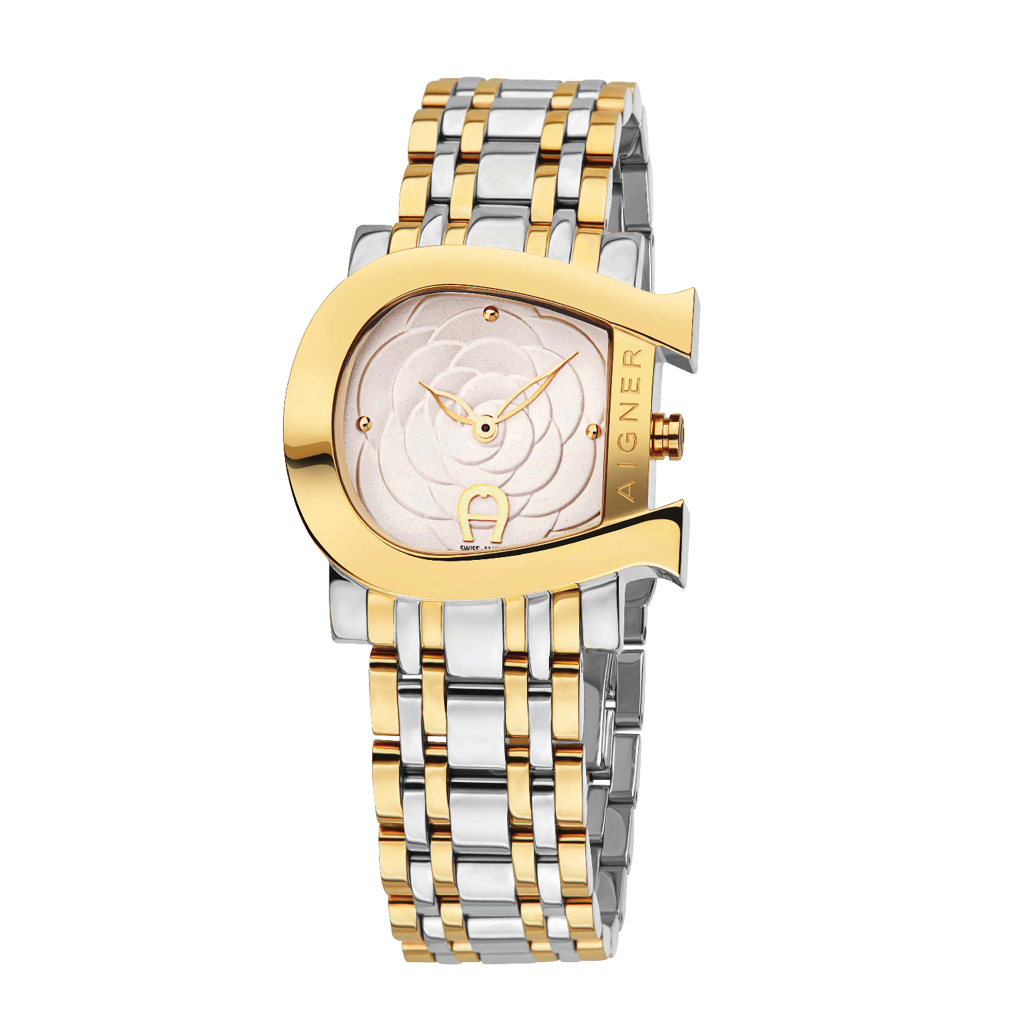 really cheap genuine shoes outlet on sale Aigner Women's Genua Floral Watch A31689