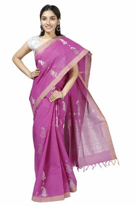 cb6c077e2f Maroon Pure Cotton Saree COSA180047 has been added to your wishlist already  exists in your wishlist