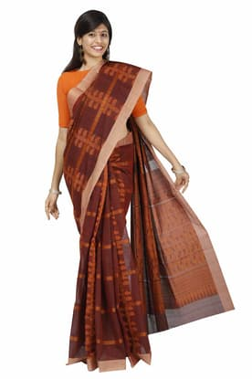0fd6745bb6 Maroon Pure Cotton Saree COSA180045 has been added to your wishlist already  exists in your wishlist