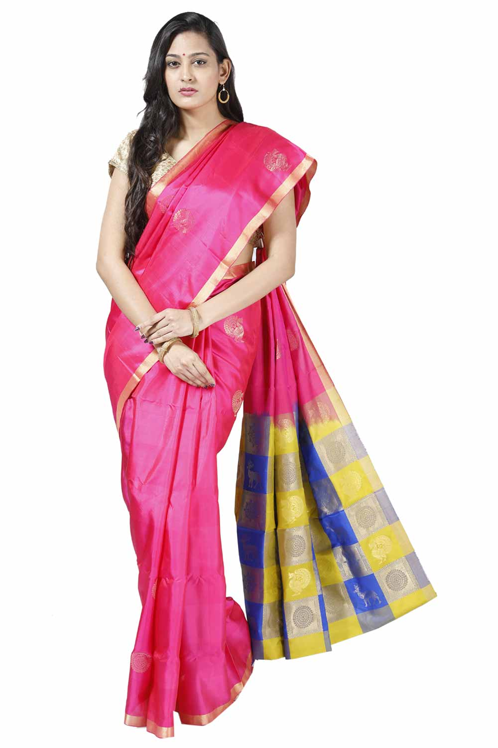 c4987182b6 Blowzy-Pink Light Weight Silk Saree