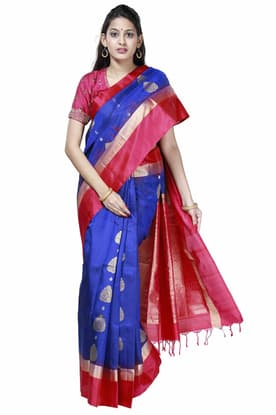 b3870956b0 Stunning Royal-blue Light Weight Silk Saree with pink SPSA180095 has been  added to your wishlist already exists in your wishlist