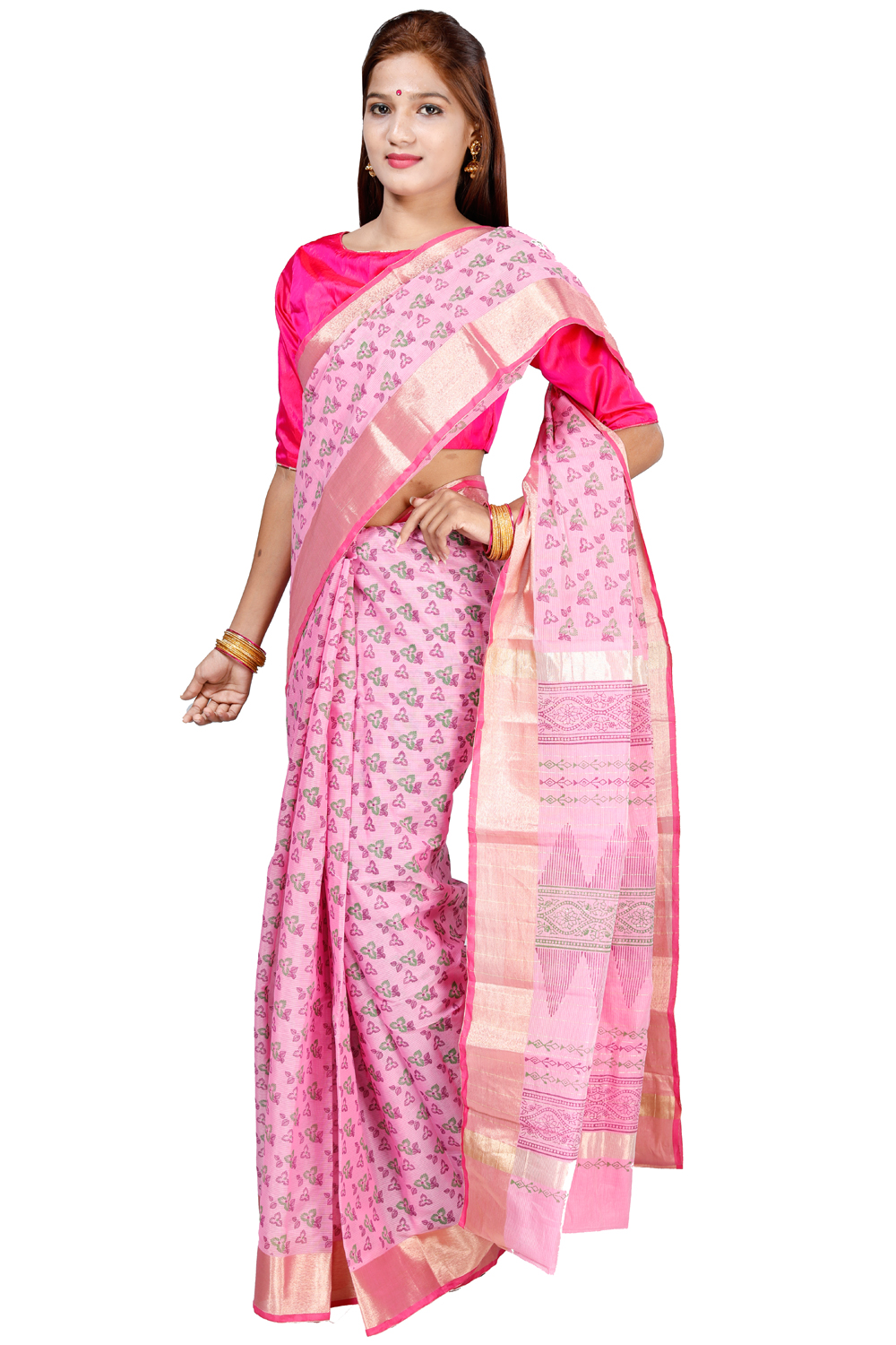 30b6a05747 lotus pink color sico saree kalanjali