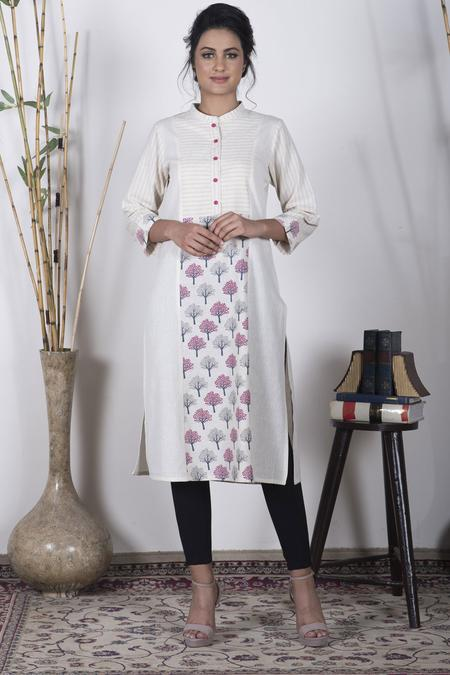 meribands mandarin collar collection mid length kurti