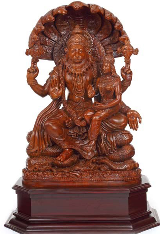 48 Inch Teakwood Lakshmi Narasimha Swamy Sold Wc3129