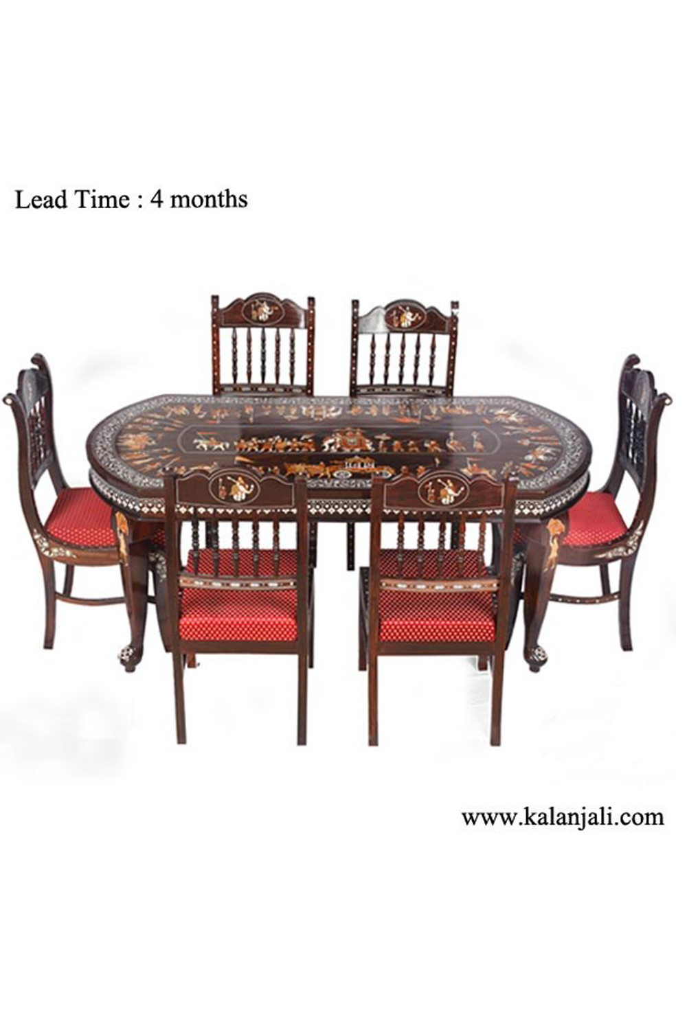 Rosewood 6chairs Oval Shape Dining Table Wf4201 Sold