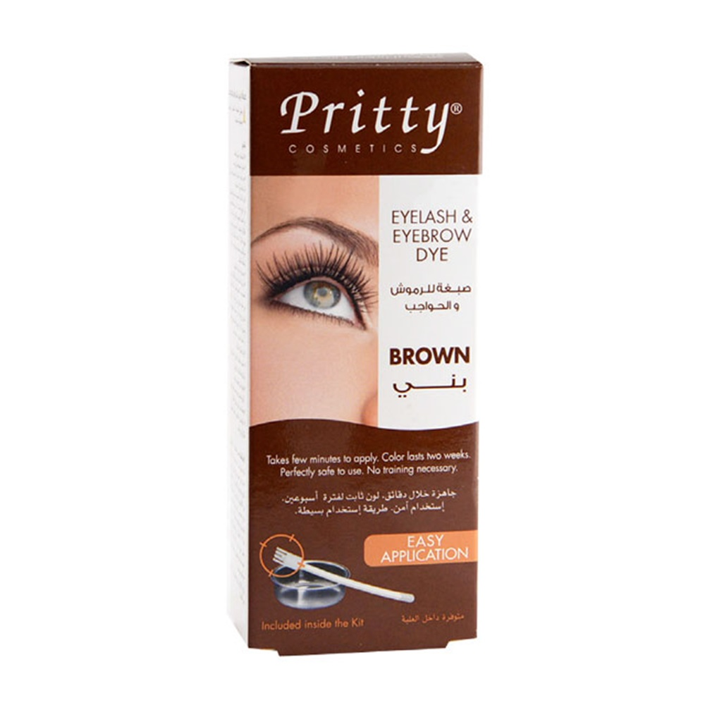 Eye Lash Pritty Eyelash Eyebrow Dark Brown Dye Kit