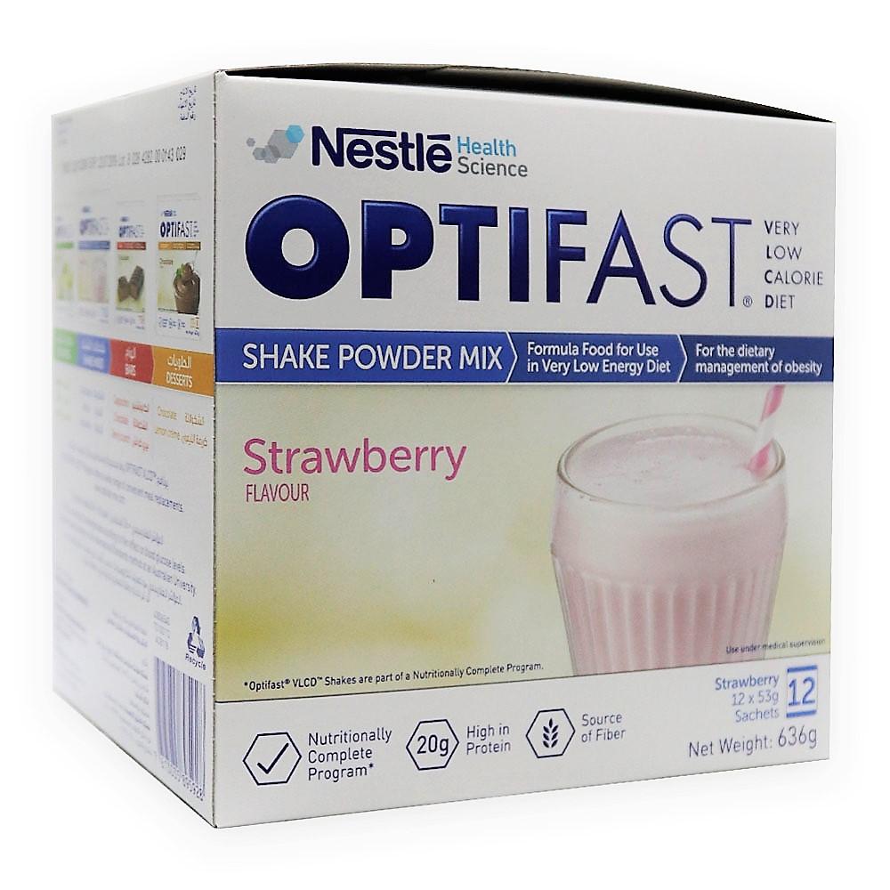 Nestle Optifast Shake Powder Mix Sachets Strawberry 12 S