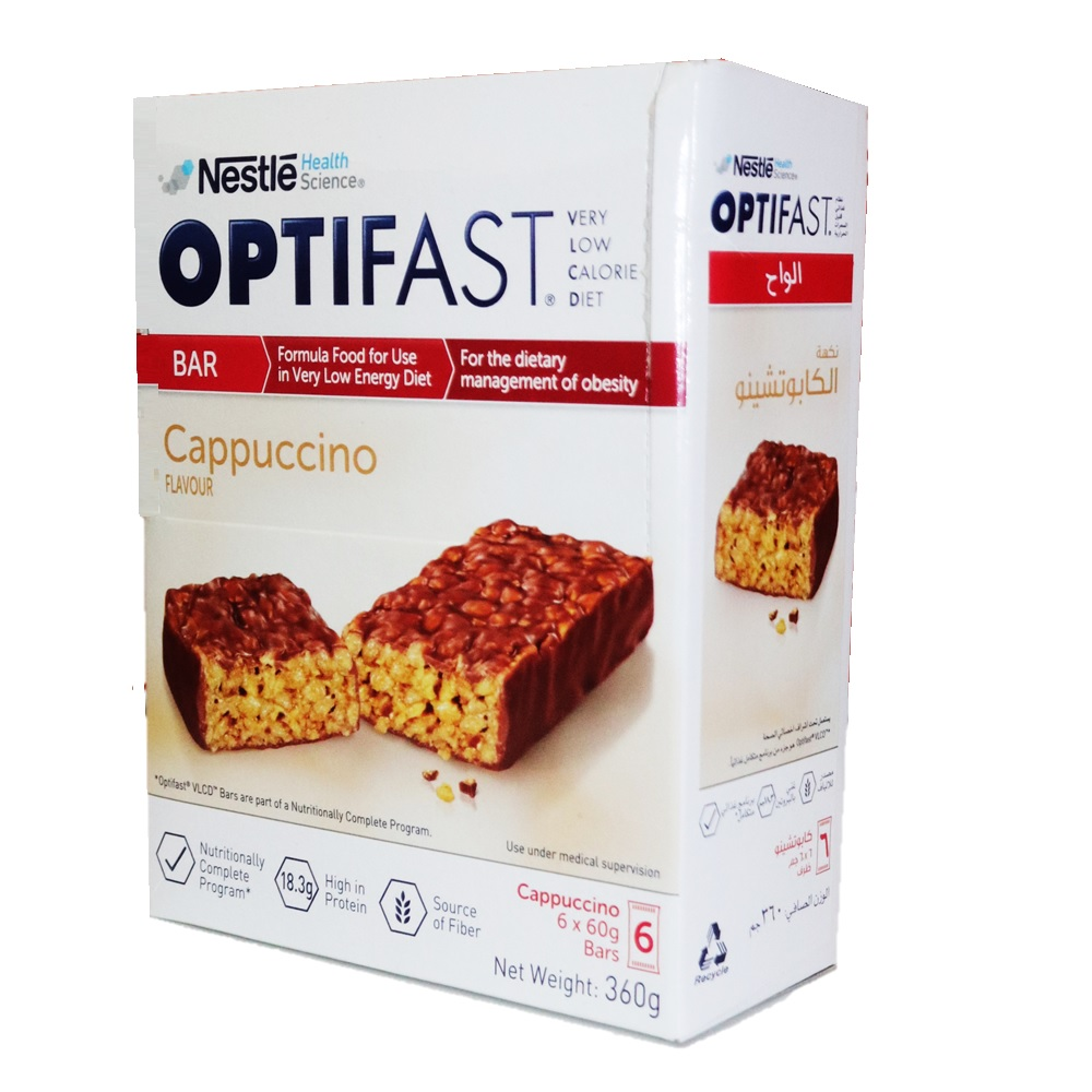 Nestle Optifast Vlcd Bar Cappuccino 60 G 6 S