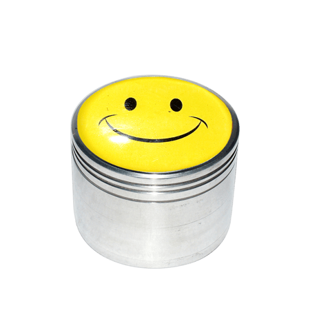 METAL GRINDER, HERB GRINDER, Little Goa, 4 Part Laminate Sticker Design Grinder 50mm