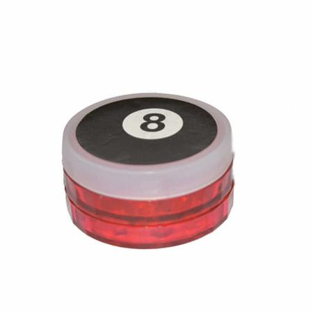 ACRYLIC GRINDER, HERB GRINDER, Little Goa, 8 No Black & Red Color Magnetic Three Part Acrylic Herb Ginder-50 mm