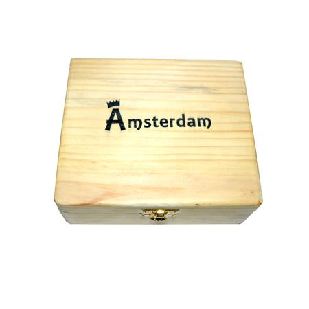 SECRETE STASH BOX, SMOKING ACCESSORIES, OTHERS, Little Goa, Amsterdam Big Size Wooden Rolling Box