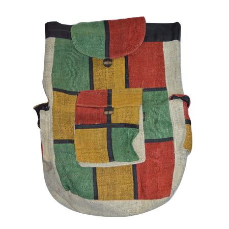 BAG, RASTA STUFF, OTHERS, Little Goa, Attractive Rasta Color Design Back Pack Bag