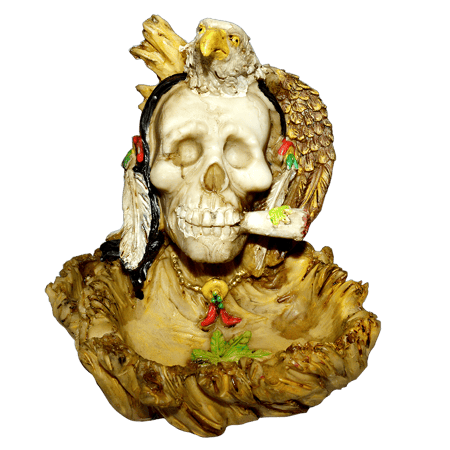 ASH TRAY, SMOKING ACCESSORIES, OTHERS, Little Goa, Smoking Eagle Skull Ash Tray