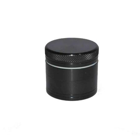 METAL GRINDER, HERB GRINDER, Little Goa, Black Color 4 Part Medium Size Metal Herb Grinder-50 mm