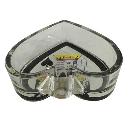 ASH TRAY, SMOKING ACCESSORIES, OTHERS, Little Goa, Black Pan Badshah Design Glass Ash Tray-4 Inch