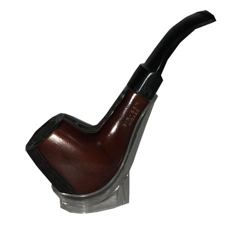 CIGAR SMOKING PIPE, PIPES, Little Goa, Brown & Black Wooden Cigar Pipe-5 Inch