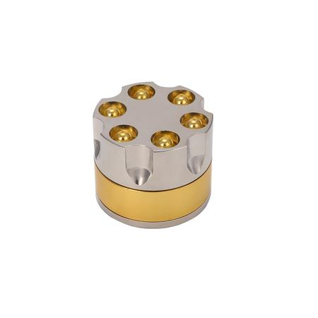METAL GRINDER, HERB GRINDER, Little Goa, Bullet Design Golden Metal Herb Grinder-50 mm