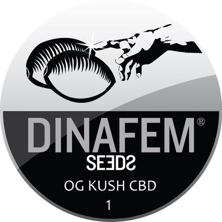 SEEDS, Little Goa, Dinafem OG Kush CBD Feminized Seeds (Pack Of 1 Seed)