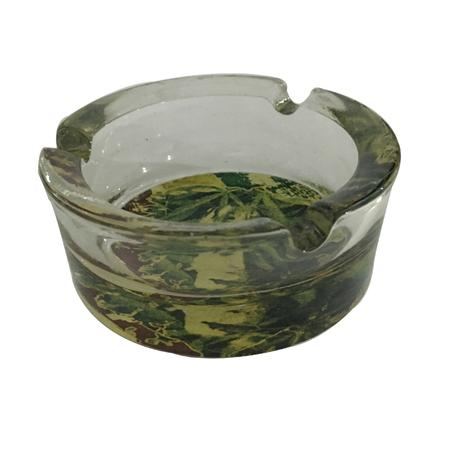 ASH TRAY, SMOKING ACCESSORIES, OTHERS, Little Goa, Green Bob Marley Round Glass Ash Tray-2.5 Inch