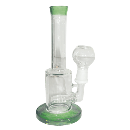 PERCOLATOR BONGS, AMERICAN BONGS, BONGS, Little Goa, Green Color Single Percolator Glass Bong- 7 Inch
