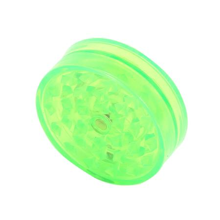 Green Two Part Magnetic Acrylic Herb Grinder-53 mm