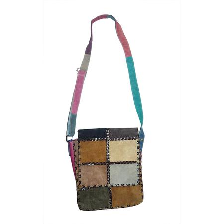 BAG, RASTA STUFF, OTHERS, Little Goa, Leather Multi Color Design Hand Bag