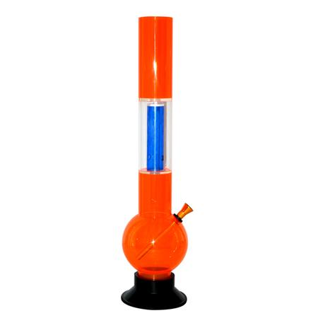 PERCOLATOR ACRYLIC BONG, ACRYLIC BONG, BONGS, Little Goa, Made in China Orange Color One Tablet Single Percolator Acrylic Bong-16 Inch