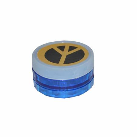 ACRYLIC GRINDER, HERB GRINDER, Little Goa, Multi Color Three Part Peace Design Acrylic Herb Grinder-50 mm