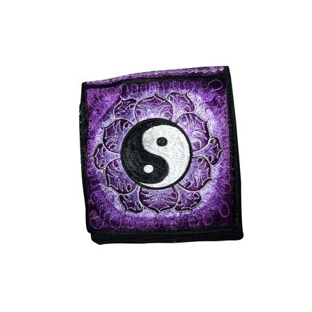BAG, RASTA STUFF, OTHERS, Little Goa, Purple Color Ying Yang Design Hand Bag