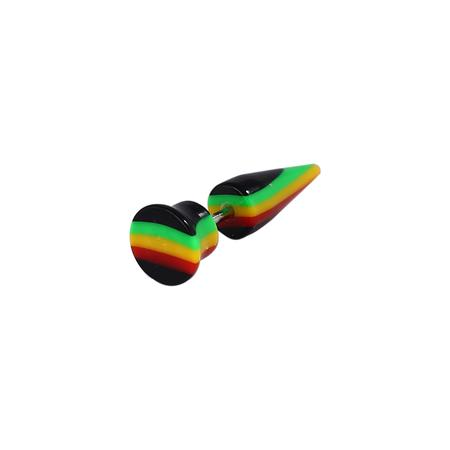 Rasta Acrylic Ear Tapper Body Piercing-26 mm Onlin