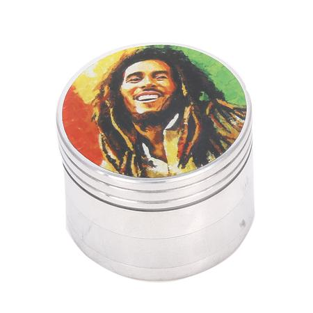 Rasta Bob Marley 4 Part Metal Herb Grinder-50 mm O