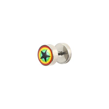 Rasta Star Metal Stud Body Piercing-11 mm Online