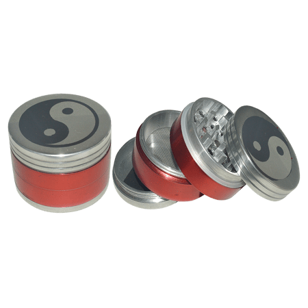 METAL GRINDER, HERB GRINDER, Little Goa, Red Color 4 Part Metal Herb Grinder-50 mm