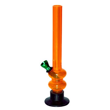 8 INCH ACRYLIC BONG, ACRYLIC BONG, BONGS, Little Goa, Orange Straight Thin Acrylic Bong-8 Inch