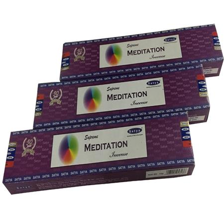 INCENSE STICKS, RASTA STUFF, OTHERS, Little Goa, Satya Supreme Meditation Incense Stick(Pack Of 3)