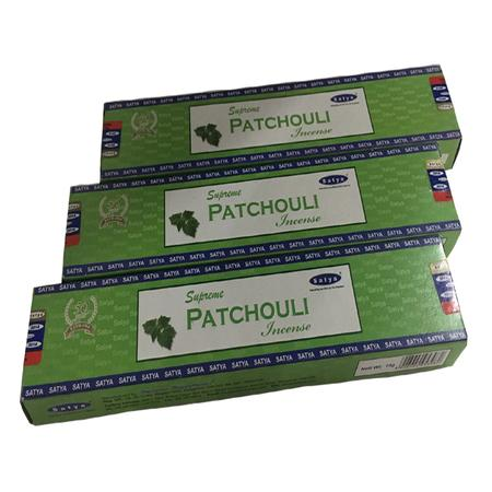 INCENSE STICKS, RASTA STUFF, OTHERS, Little Goa, Satya Supreme Patchouli Incense Stick(Pack Of 3)