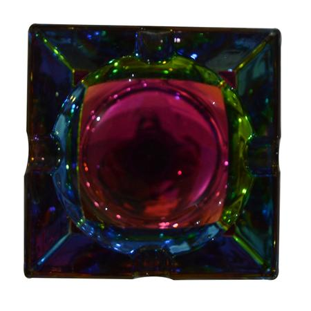 ASH TRAY, SMOKING ACCESSORIES, OTHERS, Little Goa, Square Shape Color Changing Glass Ash Tray-6 Cm