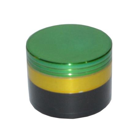 METAL GRINDER, HERB GRINDER, Little Goa, Three Color 4 Part Metal Herb Grinder-53 mm