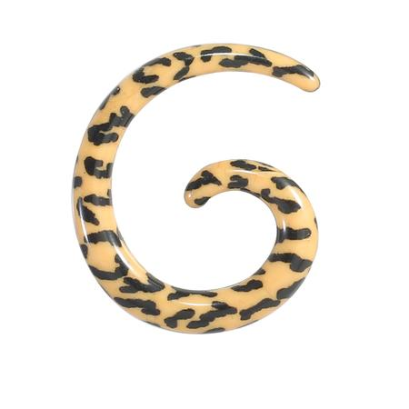 Tiger Print Spiral Acrylic Body Piercing-35 mm Onl