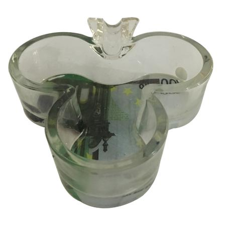 ASH TRAY, SMOKING ACCESSORIES, OTHERS, Little Goa, Tree Shape 100 Euro Glass Ash Tray-4.5 Inch