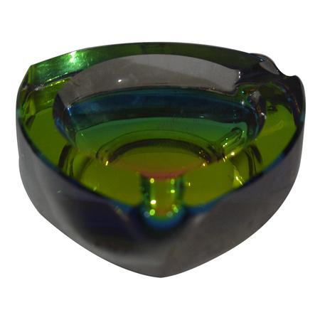 ASH TRAY, SMOKING ACCESSORIES, OTHERS, Little Goa, Triangle Color Changing Glass Ash Tray-4 Cm