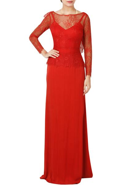 Gowns, Clothing, Carma, Red Lace Gown ,  ,  ,