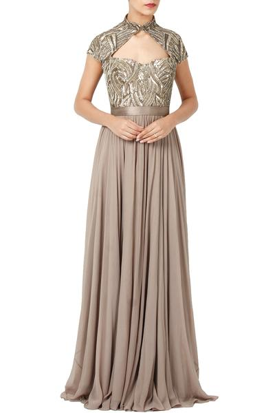 Gowns, Clothing, Carma, Dove Grey Embellished Gown ,  ,  ,