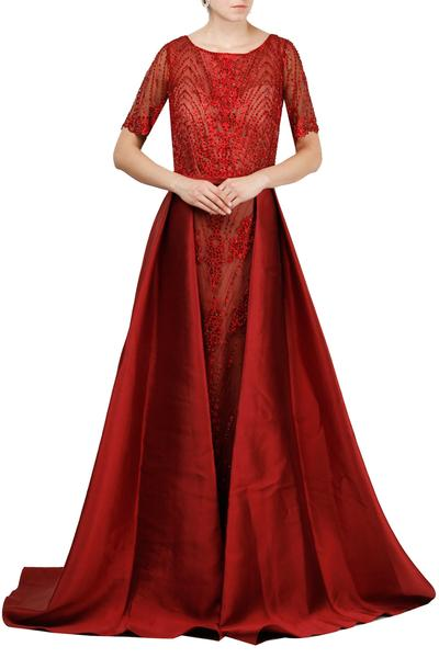 Gowns, Clothing, Carma, Red embellished gown ,  ,