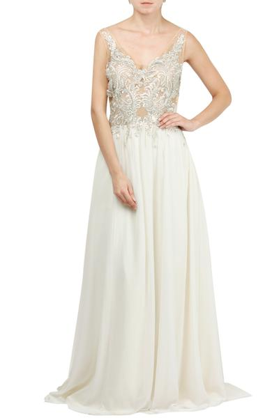 Gowns, Clothing, Carma, Ivory embellished gown ,  ,