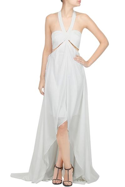 Dresses, Clothing, Carma, White Halter Neck High-Low Maxi ,  , Resort Wear, Cocktail, Bachelorette , Dry clean  only