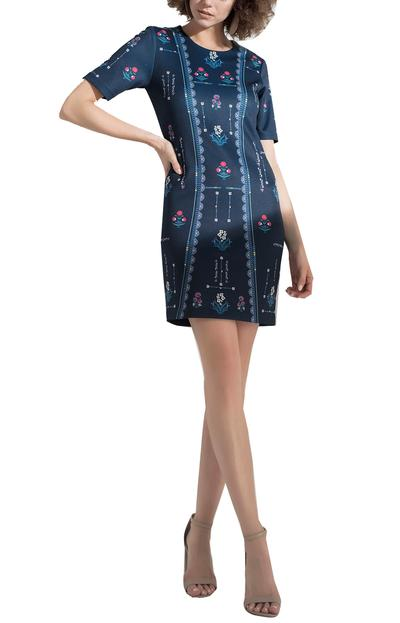 Dresses, Clothing, Carma, Navy printed dress ,  ,