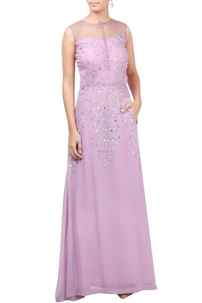 Gowns, Clothing, Carma, Lavender Embroidered Gown ,  ,  ,